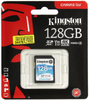 Карта памяти Kingston SDXC 128Gb V30 UHS-I U3